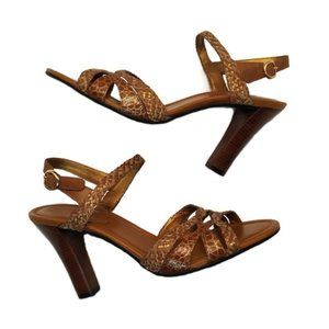 Cole Haan Woven Leather High Heel Sandals